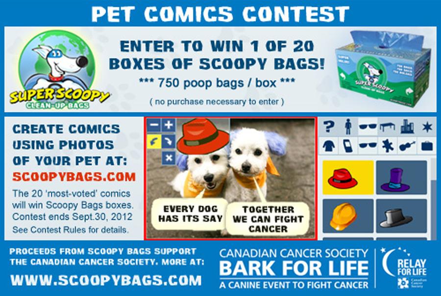 Bark For Life Pet Comics Contest