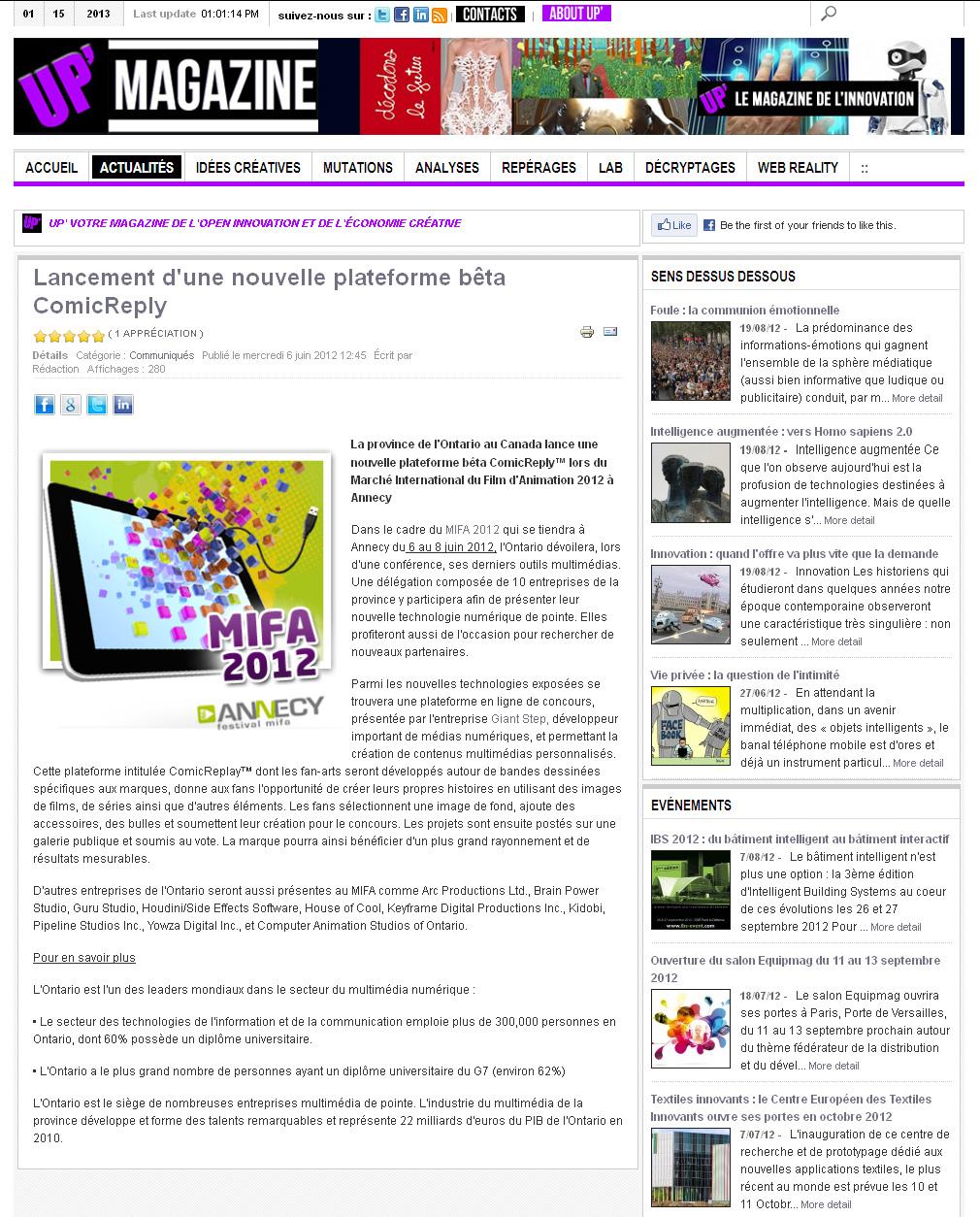 Lancement d'une nouvelle plateforme beta ComicReply