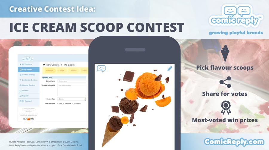 Ice_Cream_Scoop_Contest_ComicReply_social_media_platform