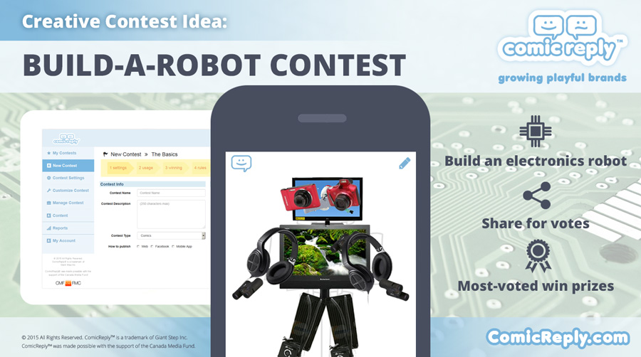 Build-A-Robot_Contest_ComicReply_social_media_platform