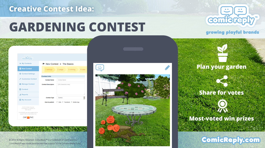 Gardening_Contest_ComicReply_social_media_platform