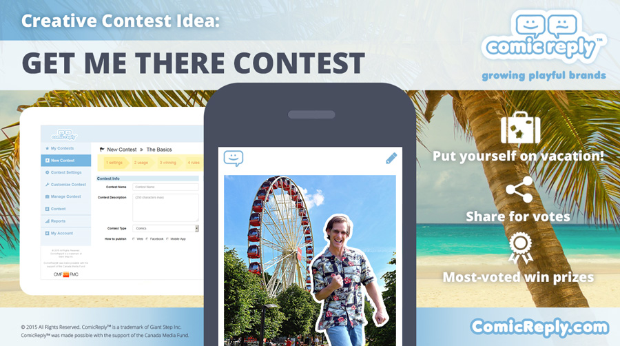 Get_Me_There_Vacation_Trip_Contest_ComicReply_social_media_platform