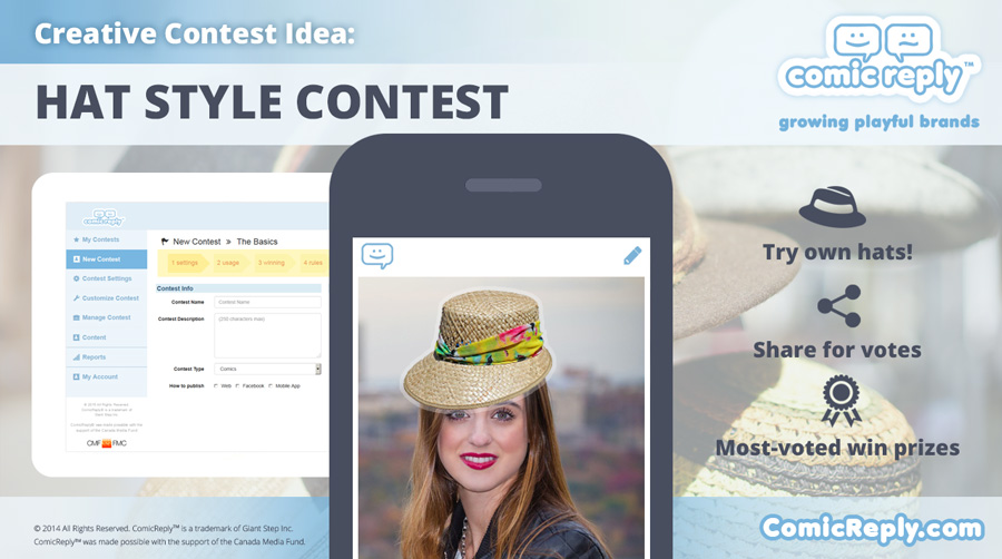 Hat_Style_Contest_ComicReply_social_media_platform