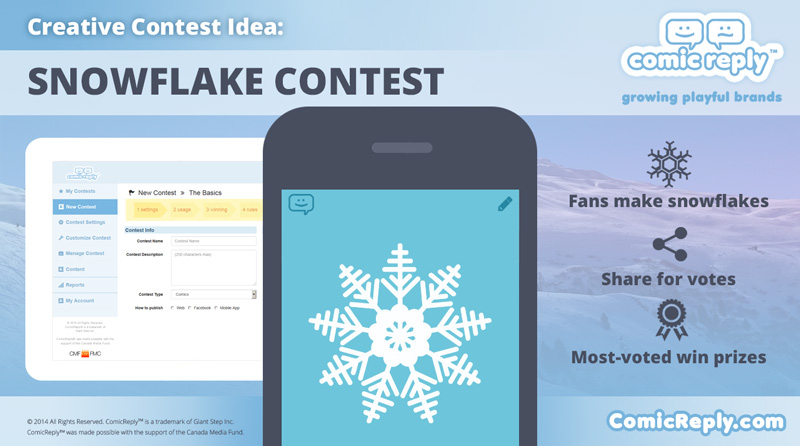 Snowflake_Contest-idea-ComicReply_social_contest_platform