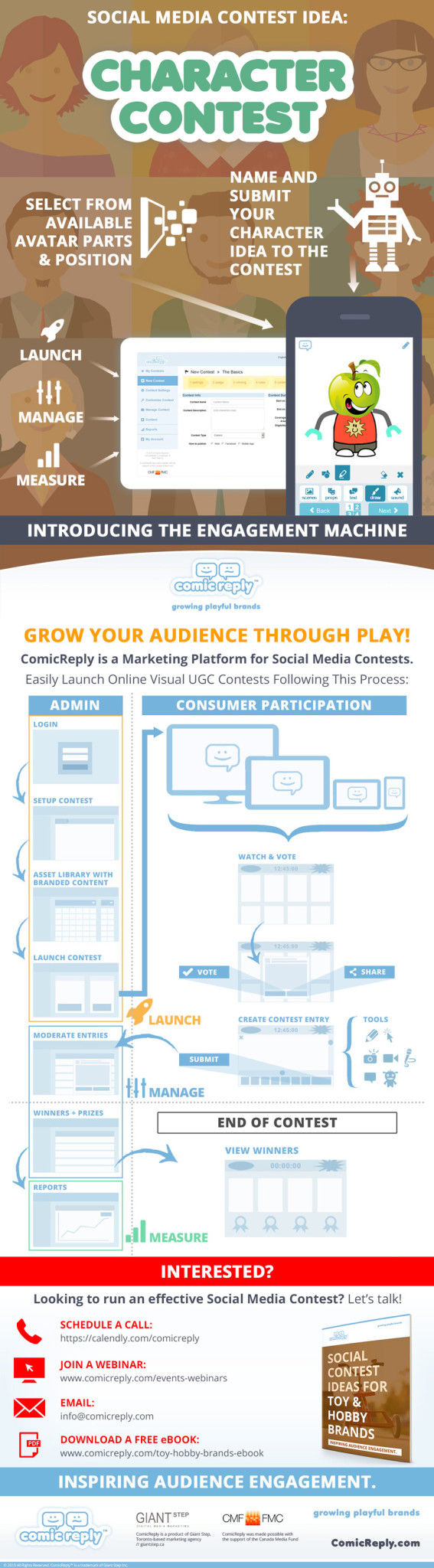 ComicReply-Social-Media-Contest-Idea-For-Animation-Toy-Marketing-Infographic