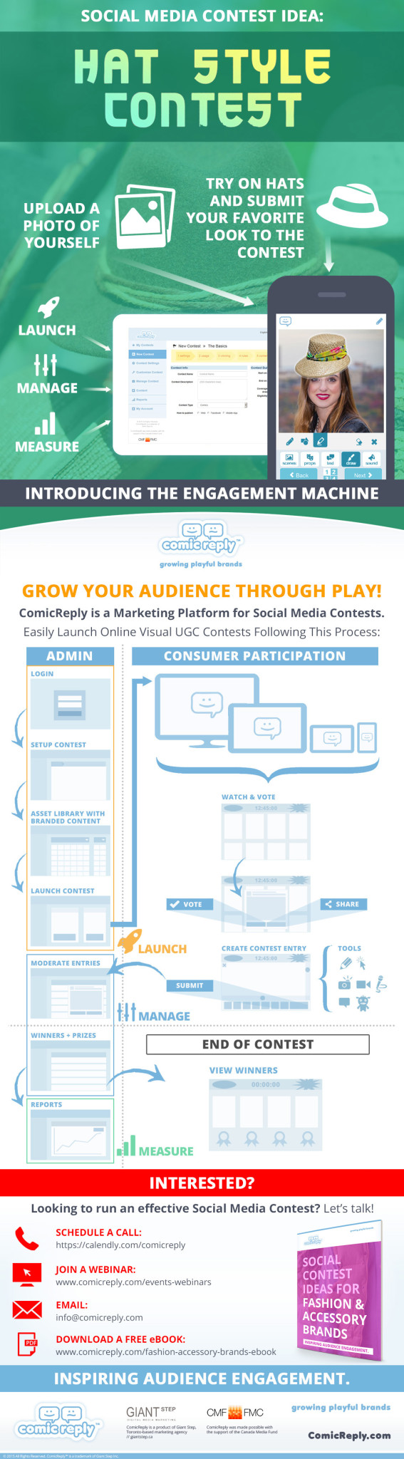 ComicReply-Social-Media-Contest-Idea-For-Fashion-Hat-Marketing-Infographic