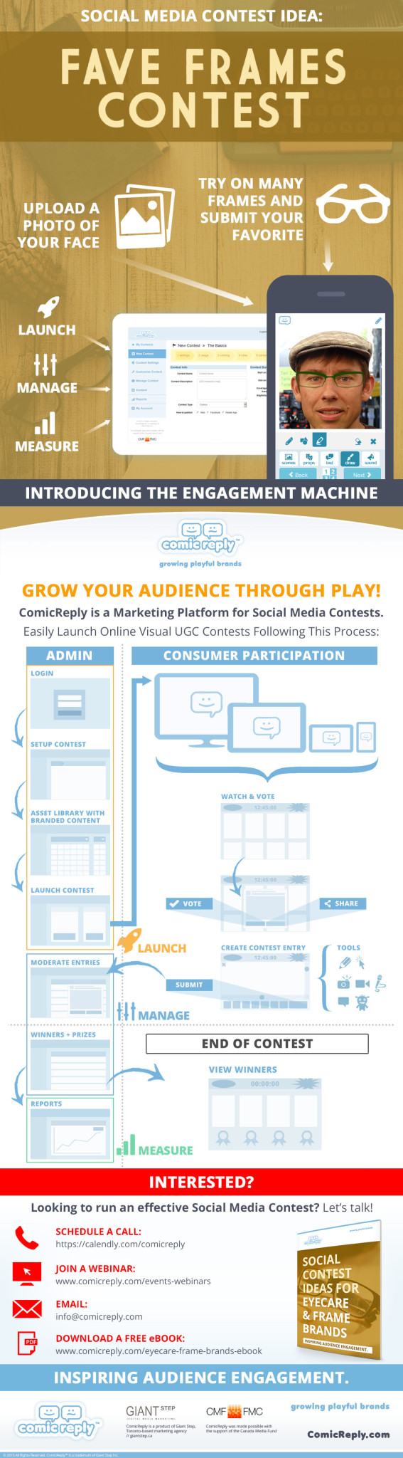 ComicReply-Social-Media-Fave-Frames-Contest-Idea-For-Eyeglasses-Marketing-Infographic